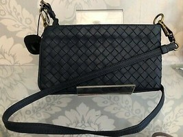 BOTTEGA VENETA Italy Slate Blue Shoulder/Cross Body / Belt Bag $890 - $444.41