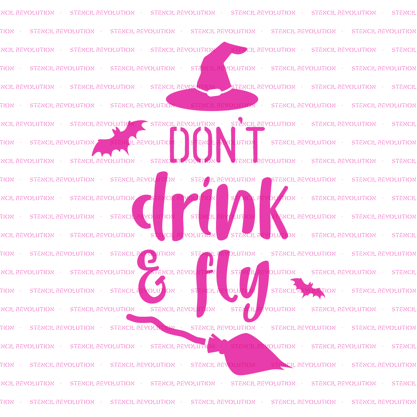 Don't Drink and Fly Halloween Stencil - Reusable Stencils of Don't Drink and Fly