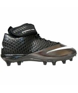 Nike Lunar Super Bad Pro Football Cleats 17 Silver/White Missing Cleats-... - $17.38