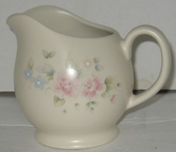Vintage Pfaltzgraff Pink Flowers Stoneware Gravy Milk Serving Pitcher - $28.71