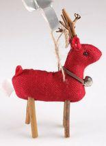 Wondershop 4 count Birchwood Bay Fabric Reindeer Ornament Set NEW w Tags image 9