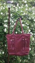 Rare Cole Haan Cabernet Red Genuine Leather Large Shoulder/Crossbody Bag - $70.00