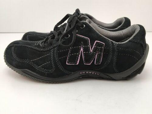 Merrell Womens US 6.5 Shoes Circuit Grid Comfort Black Suede Leather EU37 EUC image 2