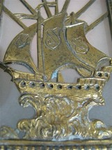 Shade From A 1920's Light Fixture - Sailing Vessel Motif - $99.99