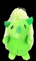 "Multipet Hedge Hog Dog 9"" Plush Squeak Green - £6.36 GBP"