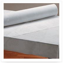 40 in x 100 ft Linen Like Silver Prestige Roll Tablecover 1 Ct - $80.00