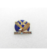 Vintage Harley Davidson Motorcycles Lapel Hat Vest Pin - Two Eagles Flying - $9.89
