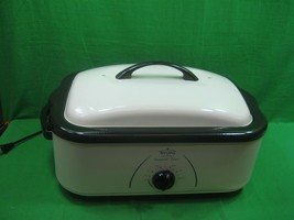 Vintage Rival 16 Quart Roaster Oven with Buffet Server & Turkey Prep Kit  - $60.73
