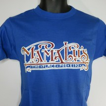 Vintage Mama Lu's Place For Ribs Deadstock T-Shirt Blue Red Single Stitch S - $39.55