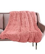 VKSLEEP Faux Fur Throw Blanket, Super Soft Lightweight Shaggy Fuzzy Blan... - £20.87 GBP