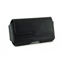 Black Horizontal Leather Case Pouch Holster For HTC Rezound  ThunderBolt 2 Two - $4.69