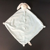 Angel Dear White Blue Bunny Rabbit Security Blanket Plush Baby Lovey   - $13.09