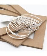 Retro Style Trendy 11Pcs/Sets Gold Silver Bangles Bracelets Set For Wome... - $9.52