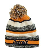 Detroit 4-Color Embroidered Adult Size Winter Knit Pom Beanie Hat (Navy ... - $13.98