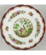Royal Albert Chelsea Bird Maroon Bread & butter plate  - $20.00