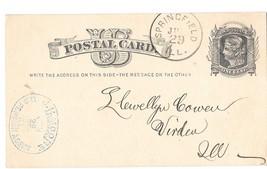 Sc UX5 Springfield IL Duplex Target Cancel 1876 JH Moore Pension Agent H... - $4.99