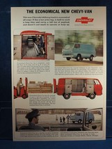 Vintage Magazine Ad Print Design Advertising Chevrolet Van - $12.86