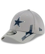 Dallas Cowboys New Era Gray 2021 NFL Sideline Home 39THIRTY Flex Hat - £25.44 GBP