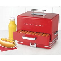Vintage Red Diner Style Hot Dog Retro Steamer Perfect Hotdog Cooker Easy... - $195.60