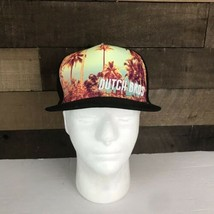 Dutch Bros Brothers Coffee Logo Palm Tree Black Flat Bill Snap Back Cap ... - $22.44