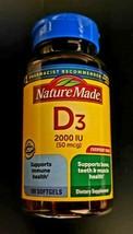 Nature Made Vitamin D3 2000IU 50MCG 100-CT Bone Health (EXP:07/23) SAME-DAY Ship - $12.15