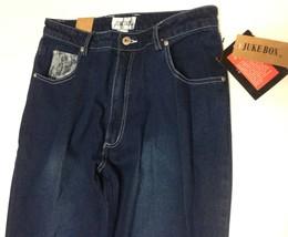 Juke Box Dark Indigo Denim Jeans Sz 11 Blue Lace Hearts NWT image 3