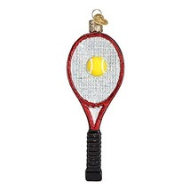 Old World Christmas Ornaments: Tennis Racquet Glass Blown Ornaments for ... - $13.65