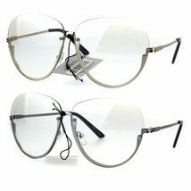 Womens Ironic Granny Style Rimless Half Rim Clear Lens Eye Glasses - $12.95