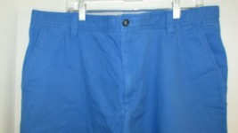Men's IZOD shorts sz 38 Saltwater washed blue shorts NWT cotton flat front - $17.81