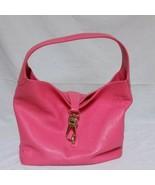 Dooney And Bourke Logo Lock Shoulder Bag Bubble Gum Pink Purse Leather Hobo - $79.99