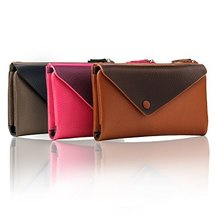 Otto Angelino Genuine Leather Envelope Wallet with Phone Compatible Slots - RFID image 7
