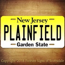 Plainfield New Jersey City State College Aluminum Vanity License Plate - $12.82