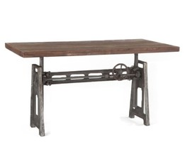 Industrial Steel Crank Adjustable Desk - $1,975.05