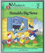ORIGINAL Vintage 1990 Mickey Mouse Library #2 Donald Duck Big News Book - $9.49