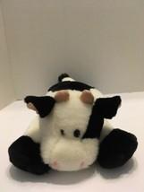 "Cow Fiesta Plush 14"" Farm Animal Laying Down  Black & White - $8.59"