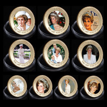 WR Princess Diana Gold Coin Set 10PCS 1961-1997 20th Anniversary Collect... - $27.84