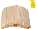 100PCS 6inch Wooden Spatulas Body Hair Removal Sticks Wax Waxing Disposable Stic