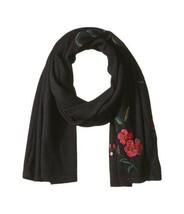 Lauren Ralph Lauren Chrysanthemum Embroidered Scarf (Black, One) - $68.00