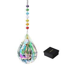 KARSLORA Colorful Crystal Hanging Prism Chakra Suncatchers Window Rainbow Sun Ca