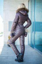 Women's Brand Fashion Hooded Ski Suit Snow Jumpsuit image 7