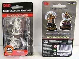 WizKids D&D Nolzurs Marvelous Upainted Miniatures: Wave 11: Male Human Wizard - $6.66