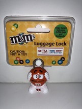 M&M's World Character Orange Luggage Lock TSA Accepted New Sealed - $19.59