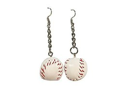 Set of 2 Sports Style Funny Earrings Stylish Individuality Earrings, Baseball