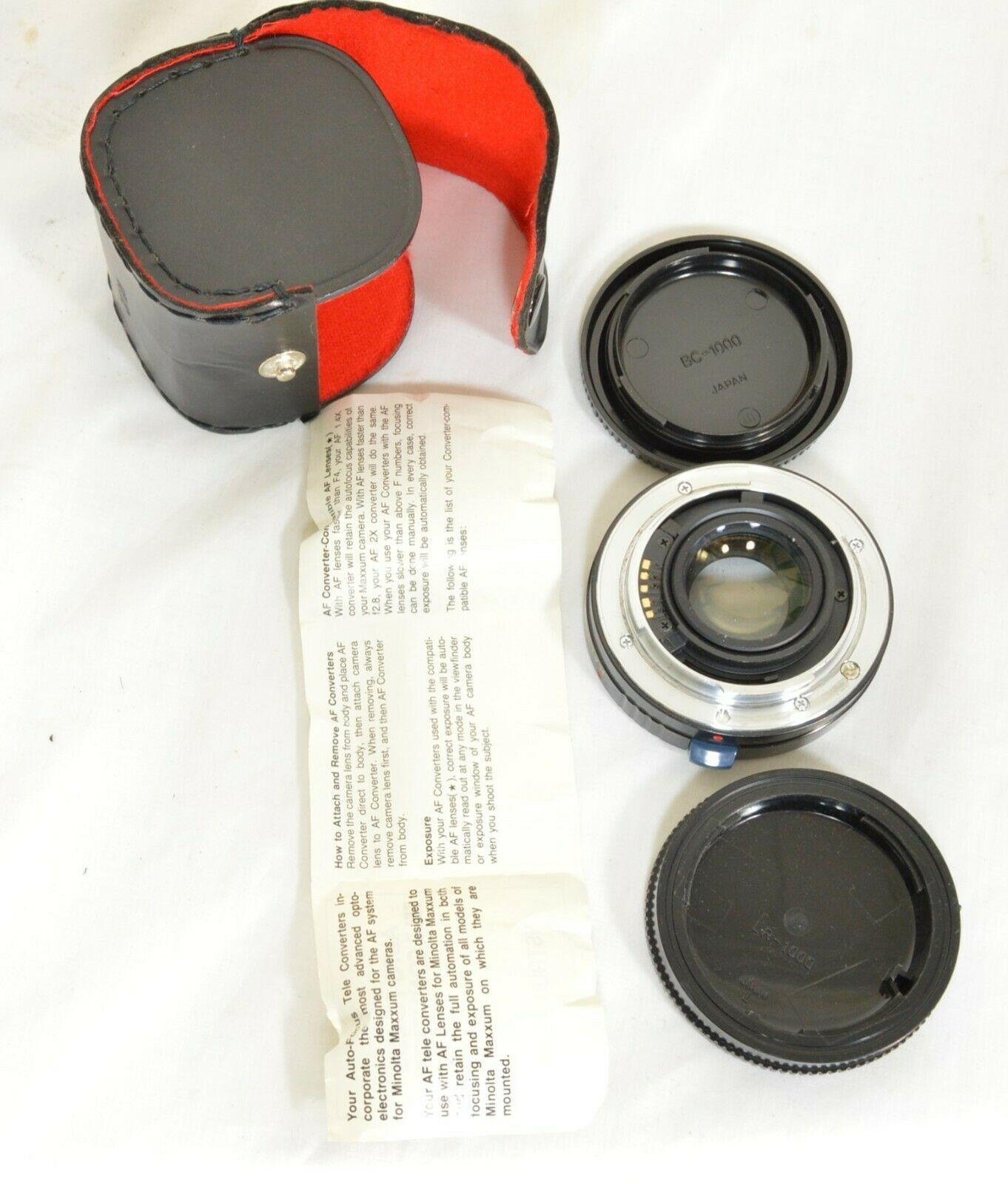 Kalimar 1.4 X M/AF Tele Converter Auto Focus camera lens w/ case & instructions image 2
