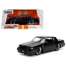 1987 Buick Grand National Matte Black 1/24 Diecast Model Car by Jada 30342 - $30.60