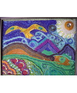 """Earth Guardian"" bead painting - $185.00"