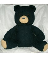 "15"" VINTAGE BARNEY THE BANCO BLACK TEDDY BEAR ANIMAL FAIR STUFFED PLUSH ... - $55.17"