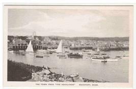 Yacht Sail Boat Harbor Rockport Massachusetts Albertype postcard - $6.44