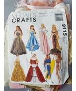 McCall's Crafts Barbie Doll Clothing Pattern 9115 W/Pre-Cut Vintage Fabr... - $36.26