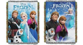 "NEW Disney Frozen Elsa Anna Olaf Tapestry Throw 40"" X 60"" Wall Hanging B... - $15.00"